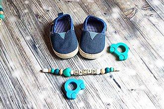 Topánočky - darčekový set pre dieťatko (Damian) - 9746384_