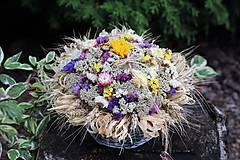 Dekorácie - Aranžmán zo sušených kvetov - 9745341_