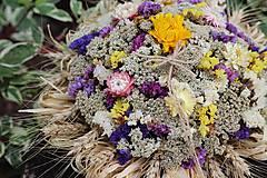 Dekorácie - Aranžmán zo sušených kvetov - 9745342_