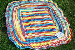 Textil - Háčkovaná detská deka pestrofarebná - 9747127_