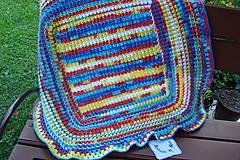 Textil - Háčkovaná detská deka pestrofarebná - 9747129_