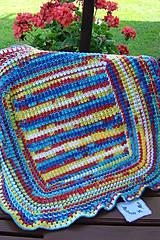 Textil - Háčkovaná detská deka pestrofarebná - 9747131_