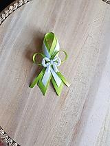 Pierka - pierko zeleno-biele pre rodičov, svedkov - 9746482_