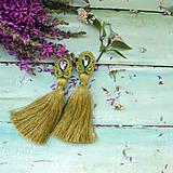 Náušnice - Classic Long Tassels n.12 - sutaškové náušnice - 9746560_