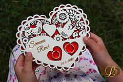 Prstene - Tanierik na obrúčky Ľudové srdce - 9746443_
