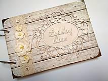 Papiernictvo - Fotoalbum svadobný  * kniha hostí A5 - 9746450_