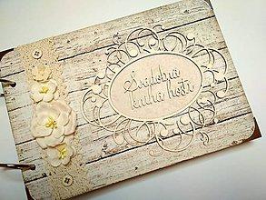 Papiernictvo - Fotoalbum svadobný  * kniha hostí  * album A5 - 9746444_