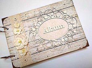 Papiernictvo - Vintage svadobný album * kniha hostí A5 - 9746448_