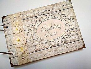 Papiernictvo - Vintage svadobný album * kniha hostí A5 - 9746450_