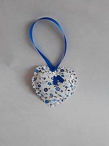 Dekorácie - Srdiečko - dekorácia (Modrá) - 9746010_