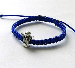 Náramky - S anjelikom detský (modrý) - 9746511_