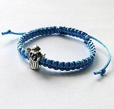Náramky - S anjelikom detský (modrá svetlá) - 9746513_
