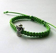 Náramky - S anjelikom detský (zelený) - 9746524_