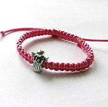 Náramky - S anjelikom detský (ružová) - 9746562_