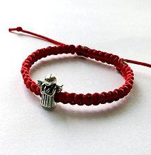 Náramky - S anjelikom detský (červená) - 9746600_