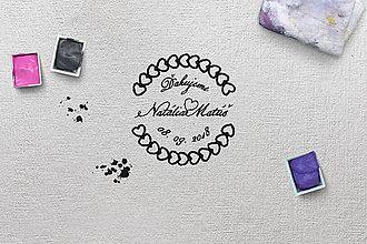 Papiernictvo - Svadobná pečiatka 19 - 9745337_