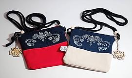 Taštičky - Mini kabelka modrotlač - 9746054_