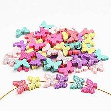 Korálky - drevená korálka motýľ - 9745890_