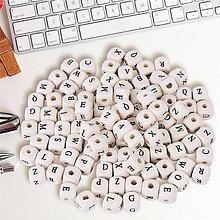 Korálky - drevená korálka písmenko - 9746061_