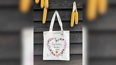 Nákupné tašky - ♥ Plátená, ručne maľovaná taška ♥ (MI19) - 9746007_