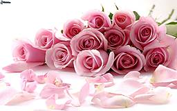 Náramky - Obšívaný náramok Vôňa ruží - 9746737_