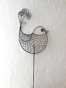 Dekorácie - Zápich ptáček - 9745408_