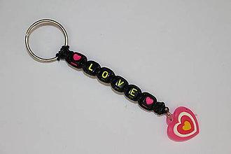 Kľúčenky - Kľúčenka s nápisom LOVE - 9746677_