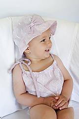 Detské čiapky - Letný klobúčik Violet - 9747119_