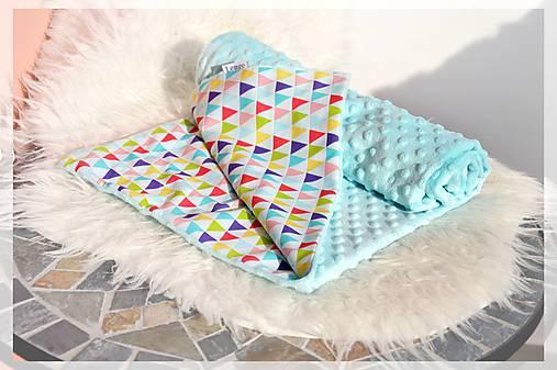 Minky deka celoročná 100×75cm TRIANGLE RAINBOW