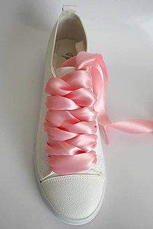 Obuv - Saténové šnúrky do topánok, š. 2,4 cm (Bordová) - 9745532_