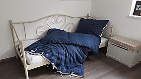 Úžitkový textil - Ľanové posteľné obliečky Cute Dots - 9746603_