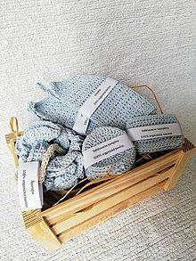 Úžitkový textil - Háčkovaný kúpeľňový set zo 100 % organickej bavlny - 9748290_