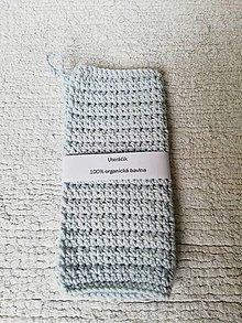 Drobnosti - Háčkovaný uteráčik zo 100% organickej bavlny - 9748895_