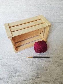 Drobnosti - Háčkovaná špongia zo 100% organickej bavlny (Bordová) - 9749658_