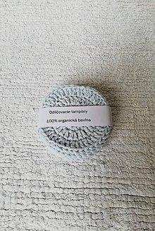 Úžitkový textil - Háčkované odličovacie tampóny zo 100% organickej bavlny - okrúhle (Modrá) - 9749683_
