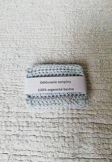 Úžitkový textil - Háčkované odličovacie tampóny zo 100 % organickej bavlny - obdĺžnikové  (Modrá) - 9749734_
