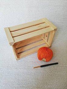 Drobnosti - Háčkované odličovacie tampóny zo 100 % organickej bavlny - obdĺžnikové  (Oranžová) - 9749737_