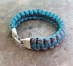 Náramky - Pletený náramok s kovovým zapínaním 004 - 9749334_