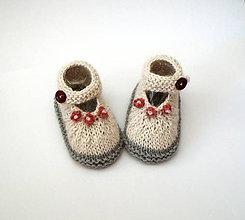 Topánočky - Sandálky z alpaky - 9749475_