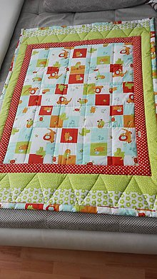 Úžitkový textil - Detska patchwork deka - 9749954_