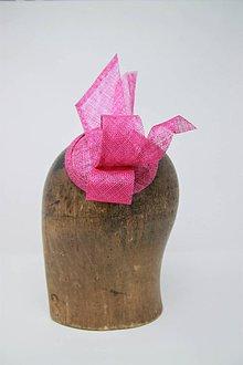 Ozdoby do vlasov - Cyklamenovo ružový fascinátor - 9749127_