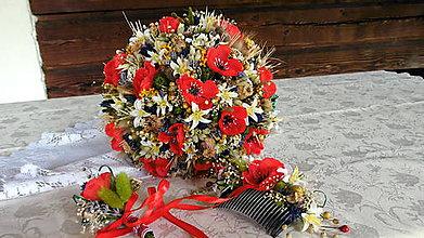 Dekorácie - Svadobná poľná kytica 2 - 9748132_