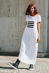 Šaty - FNDLK úpletové šaty 299 BKkL dlouhé - 9748868_