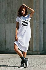 Šaty - FNDLK úpletové šaty 299 BKkL dlouhé - 9748877_