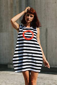 Šaty - FNDLK úpletové šaty 295 BK - 9748816_