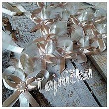 Pierka - Hnedo-krémová svadobná sada na mieru - 9750167_