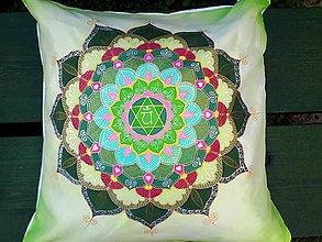 Úžitkový textil - Vankúšik Srdcová čakra - 9747662_