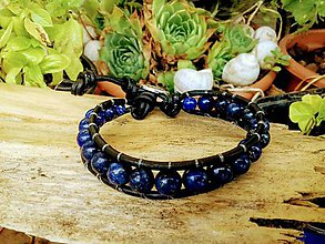 Náramky - Wrap náramok lapis lazuli - 9749216_