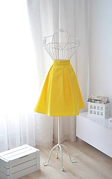 Sukne - MIDI skladaná sukňa  - 9749542_