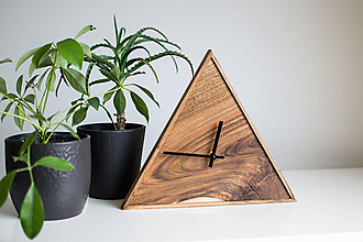 Hodiny - orechové hodiny / trojuholník 1 - 9750404_